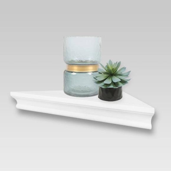 "Threshold Traditional Corner Shelf White 15.5x7.7"""